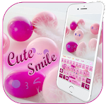Cute Pink Smiles Keypad Icon