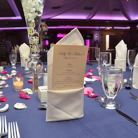 Table Setting by Lorraine D.  Heaney - Wedding Details