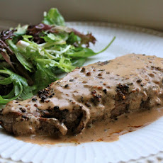 STEAK au POIVRE (PEPPERED STEAK)
