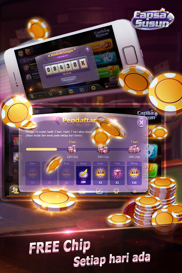 Capsa Susun(Free Poker Casino) Screenshot 1