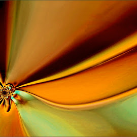 Moment in Time by Kittie Groenewald - Digital Art Abstract ( abstract art, lines, gold )