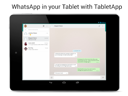 TabletApp for WhatsApp