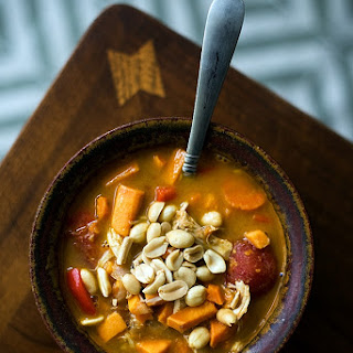 Spicy Peanut Sweet Potato Soup