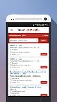 Screenshot of TimesJobs Job Search