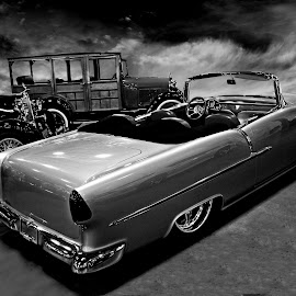 Bel Air III by JEFFREY LORBER - Black & White Objects & Still Life ( bel air, chevrolet, lorberphoto, rust 'n chrome, jeffrey lorber, 1955 custom chevrolet bel air )