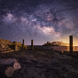 Agios Stefanos by Michael Eberth - Landscapes Starscapes ( kos, milkyway, sky, nature, greece, nightsky, night, landscape, starscape )