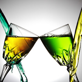 twin glasses 7.1 by Peter Salmon - Artistic Objects Glass