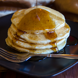 Pancakes for Breakfast by Dave Clark - Food & Drink Plated Food ( plated, syrup, delicious, pancake,  )