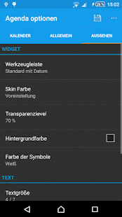 Kalender Widget Screenshot
