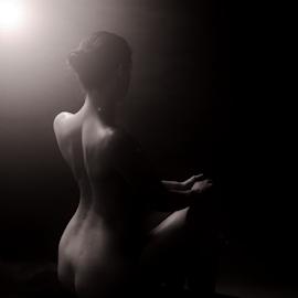 Light up my back by Vineet Johri - Nudes & Boudoir Artistic Nude ( art nude, art nude lighting workshop, vkumar phtography, keileigh lush, light )