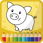 Kids Coloring Book Icon