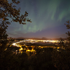Northen Light over Tromsø,Norway by Jan kåre Paulsen - Landscapes Starscapes