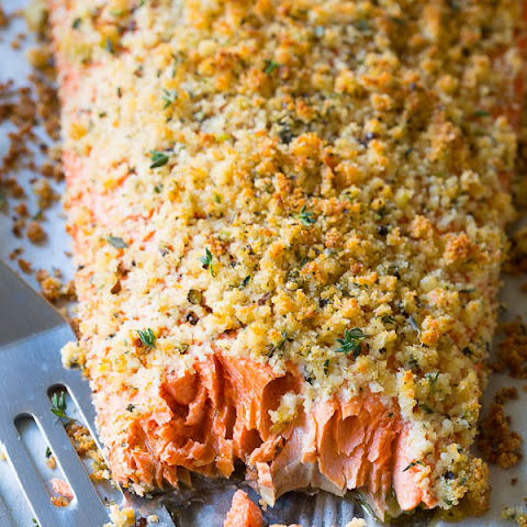 Oven Baked Salmon Recipe with Parmesan Herb Crust
