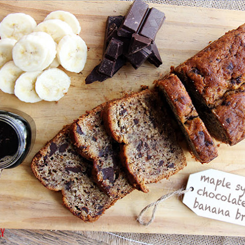 Maple Syrup Choc Chip Banana Bread
