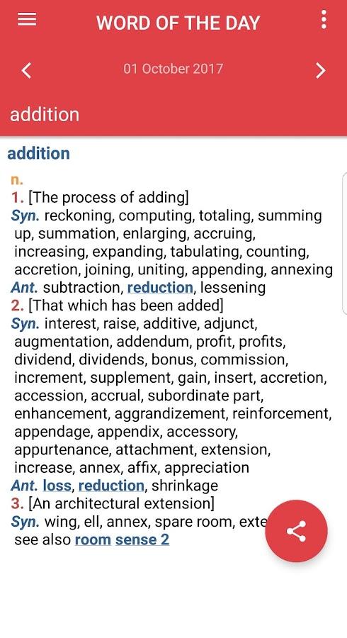Webster's Dictionary+Thesaurus Screenshot 4