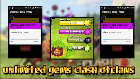 Download Full gems clash of clans prank 1.0 APK