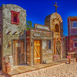 Tombstone Theatre Set 2 by Dave Walters - Digital Art Places ( fantasy, h d r., tombstone, arizona, old west,  )