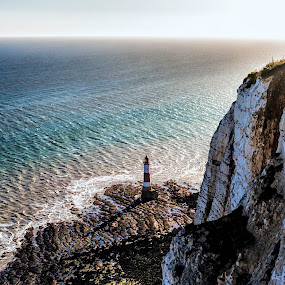 Light house by Balazs Romsics - Buildings & Architecture Public & Historical ( water, uk, blue, green, light house, sea )