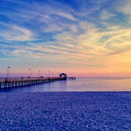 Pastel Sunset at the beach by Nita Jo Pearce - Instagram & Mobile Android ( biloxi, downtime, my life, beautiful, beach )