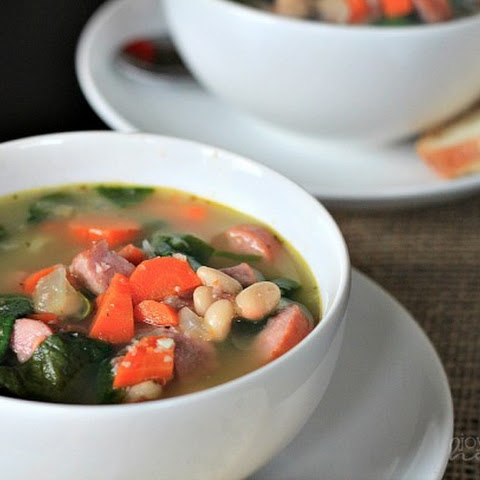 White Bean Soup with Sausage & Spinach