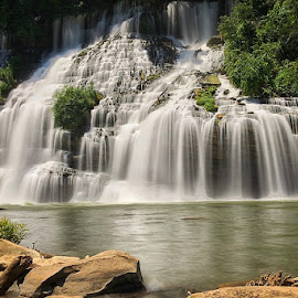 Twin Falls by John Ray - Instagram & Mobile iPhone ( rock island state park, iphone 7 plus, tennessee, twin falls, snapseed, rock island )