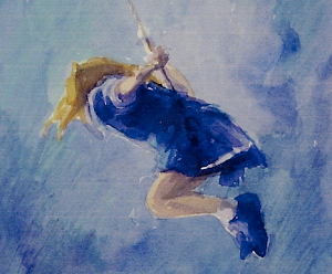 The Swing Watercolour 8x6""
