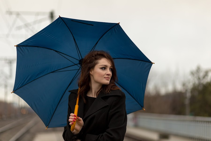 rainy day by Irina Ciurla - Uncategorized All Uncategorized ( model, dreamer, woman, umbrella, beauty )