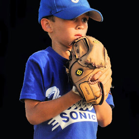Serious Pitcher by Kristen O'Brian - Sports & Fitness Baseball ( baseball, softball, son, tball, twisters, kid )
