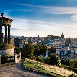 Carlton Hill Edinburgh by Seán Feely - City,  Street & Park  Vistas