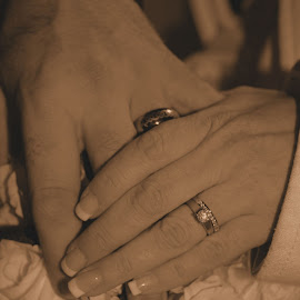 Wedding Rings by Sharon Abbott - Wedding Other ( love, hands, wedding, rings, marriage,  )