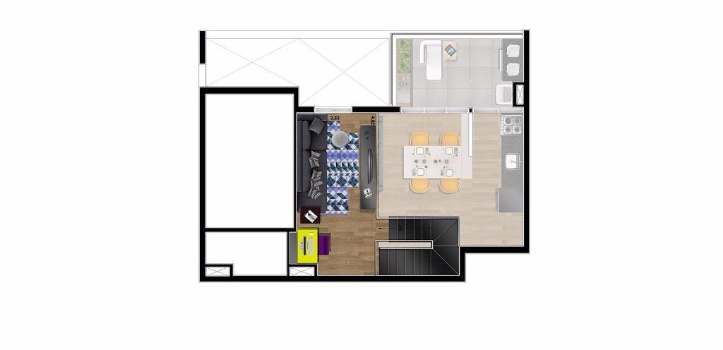 Planta Loft Superior 82 m²