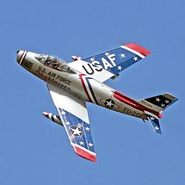 Sabre Photo Pass by Jim Baker - Transportation Airplanes