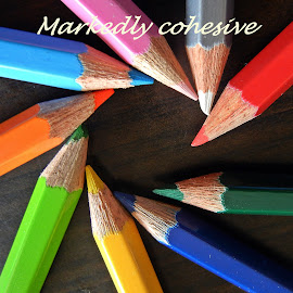 Rainbow markers by Pradeep Kumar - Typography Captioned Photos