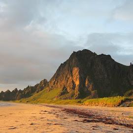 Midnightsun by Annette Ovesen - Landscapes Mountains & Hills