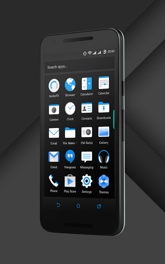 Sense Black/Blue cm13 theme Screenshot 13