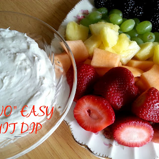 """Two"" Easy Fruit Dip"