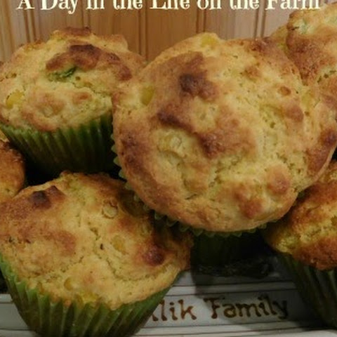 Sour Cream and Green Onion Corn Muffins