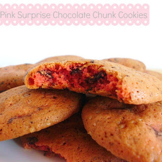 Skinny Pink Surprise Chocolate Chunk Cookies