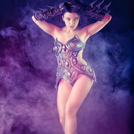 Female Power by Colin Dixon - People Portraits of Women ( cosplay, model, female, power, beauty, smoke )