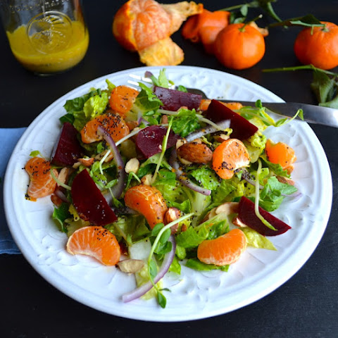 Mandarin Beet Salad with Mandarin Poppyseed Dressing