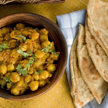 Speciality Indian flatbreads & chickpea curry