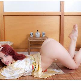 Japanese style by Steve Hendra - Nudes & Boudoir Boudoir ( model, nude, female, redhead, japanese )