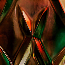 Reflections in glass by Kittie Groenewald - Abstract Patterns