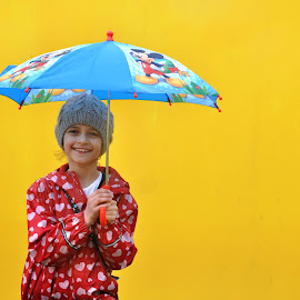 Illustration by J & M - Babies & Children Child Portraits ( image, view, umbrella, illustration, girl )