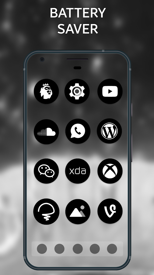 Pixel Oreo 8 Black AMOLED UX - Icon Pack Screenshot 3