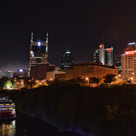 Music City by Angela Everett - City,  Street & Park  Skylines ( tennesse, skyline, general jackson, music city, nashville )