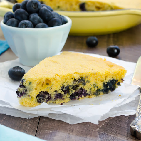 Blueberry Maple Skillet Cornbread