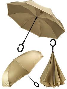 Зонт обратный, синий