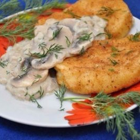 Potato Cutlets With Mushroom Sauce