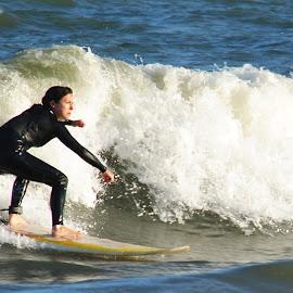 Surfer by Prentiss Findlay - Sports & Fitness Surfing ( surfer, waves, ocean, beach, surf )
